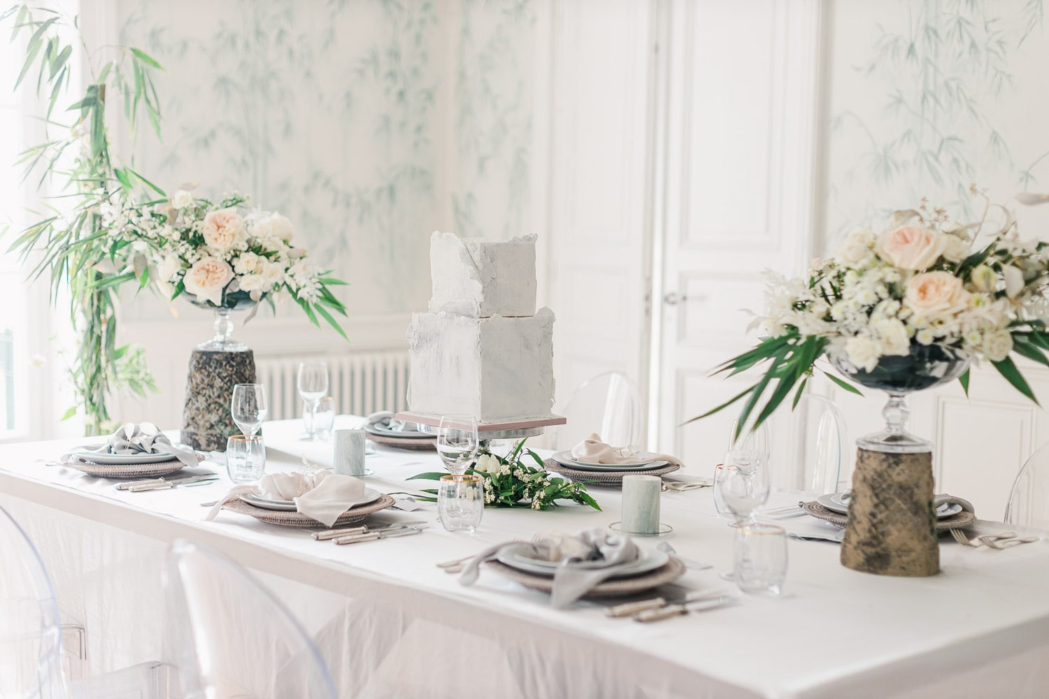 French Dusty Blue Wedding at La Maison Bambou