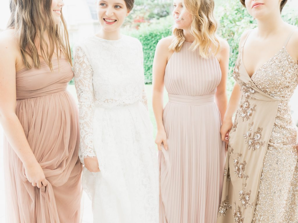 Cossonay Church Wedding with Blush Bridesmaids